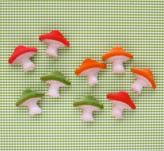 Etsy Mushroom Cake Decorations