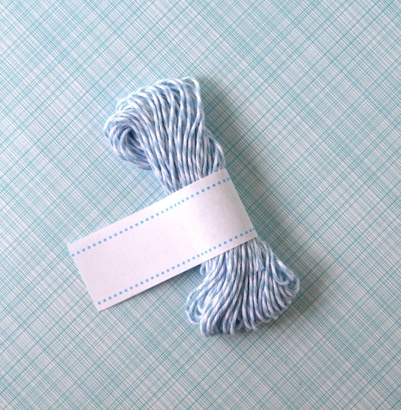 Shore Blue Bakers Twine - Blue and White Striped Twine (15 yards)