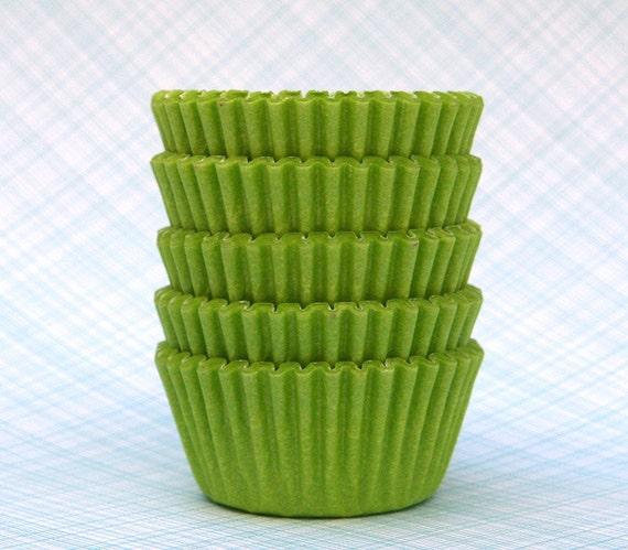 MINI Lime Green Cupcake Liners (100)