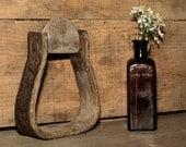 Antique, Old West, Single Horse Stirrup, Wild West, Equestrian, Decorate Little Boy Cowboy Themed Room or Photo Prop