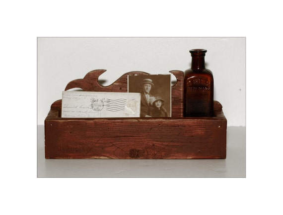 Lovely, Vintage, Weathered Wooden Box, Great to Store Postcards, Mail, Supplies or Just for Display