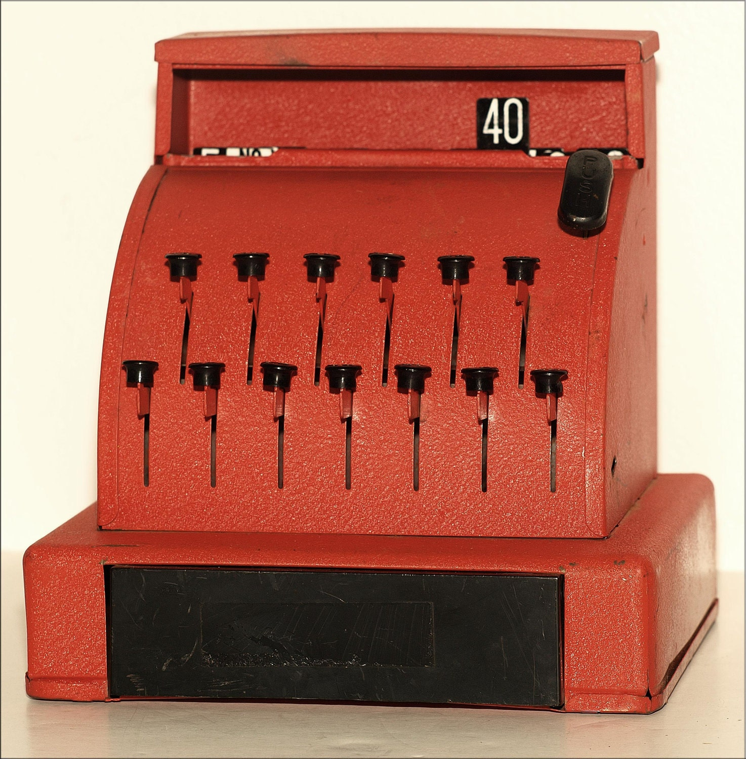Toy Cash Register : Red vintage toy cash register fun for your child a