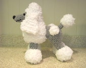 Crocheted Poodle Stuffed Animal Pattern - Digital Download