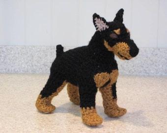 Miniature Pinscher Crochet Pattern - Digital Download - ENGLISH ONLY