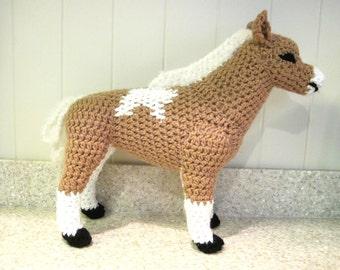 Miniature Horse PDF Crochet Pattern - Digital Download - ENGLISH ONLY