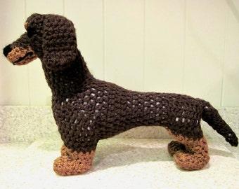 Crocheted Dachshund PDF Pattern - Digital Download - ENGLISH ONLY