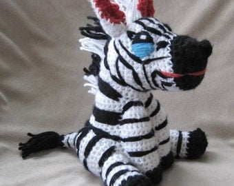 Crocheted Zebra PDF Pattern - Digital Download - ENGLISH ONLY
