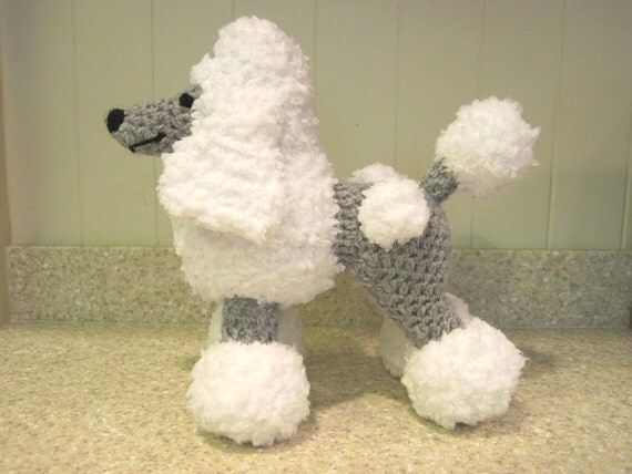 Crocheted Poodle Stuffed Animal Pattern - Digital Download