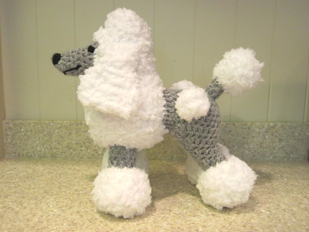 Crocheted Poodle Stuffed Animal Pattern Digital Download