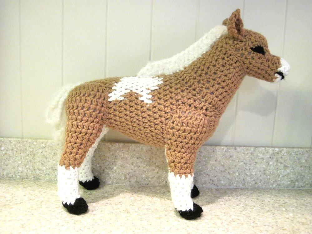 Crochet Pattern Free Horse : Miniature Horse PDF Crochet Pattern Digital Download