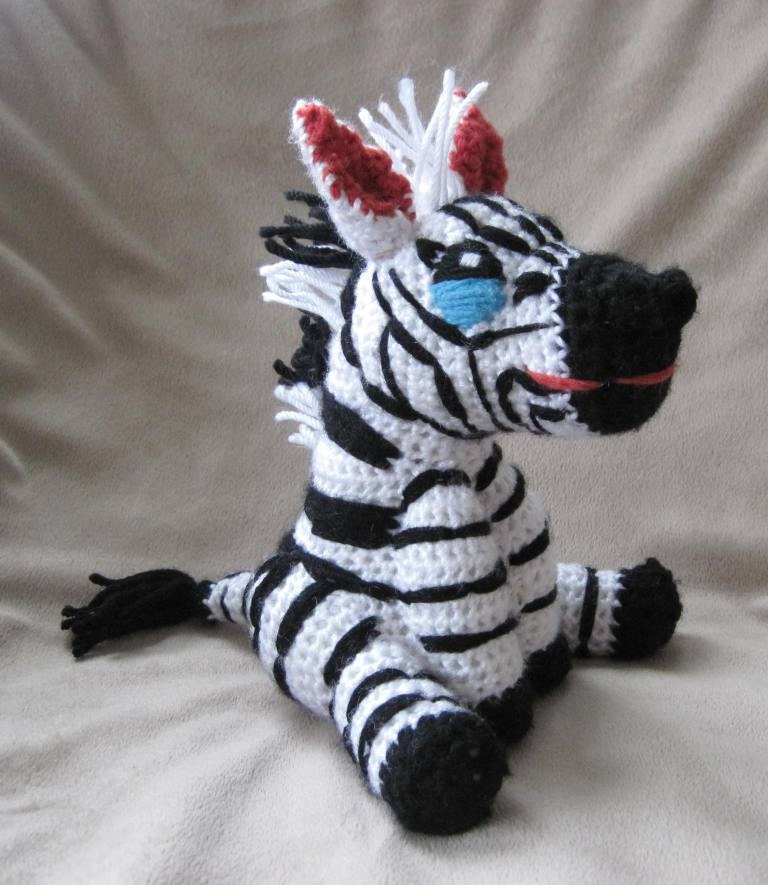 Amigurumi Askina Free Patterns : Crocheted Zebra PDF Pattern Digital Download ENGLISH ONLY