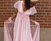 Cahill Pink Lingerie Nightgown Peignoir Renaissance Princess