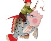 Fine art print -- Boy and Fish