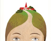 Fine art print - Lady with Village on her Head