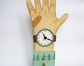 Handpainted Wooden Clock Hand - the celadon sweater