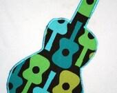 Michael Miller's Groovy Guitar Appliqued Tee shirt