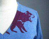 Tasmanian Devil V Neck T Shirt American Apparel