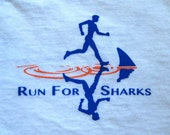 Run For Sharks T Shirt - Made to Order