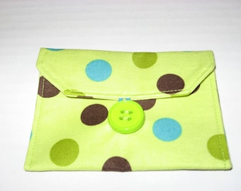 Mini Wallet, gift card holder, business card holder, Grab and Go Wallet.   Ready to ship