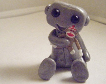 Sock Monkey Love Robot