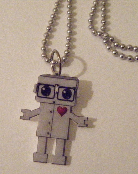 Get Your Nerd On Robot Necklace