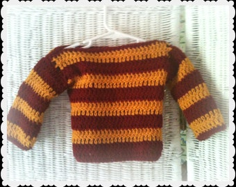 Crochet Gryffindor Baby Harry Potter Sweater