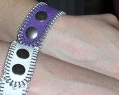 Purple Zipper Bracelet