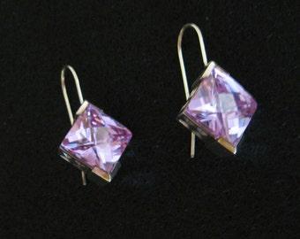 Sterling Elle Earrings CZ Purple REDUCED