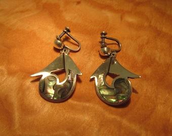 Miguel Martinez Earrings Taxco Silver