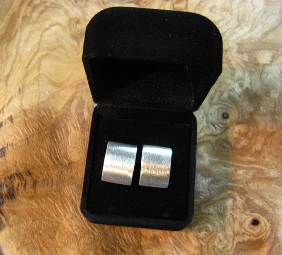 Silver Zaunick Satin Finish Cufflinks