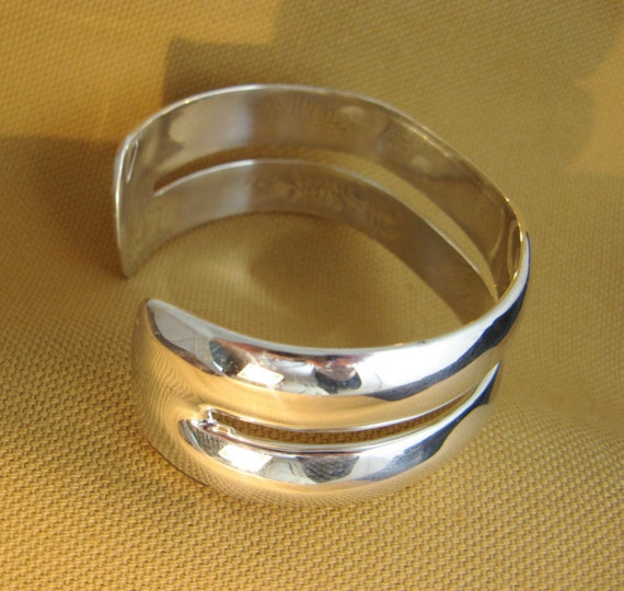 Silver Two-Band Cuff Bracelet