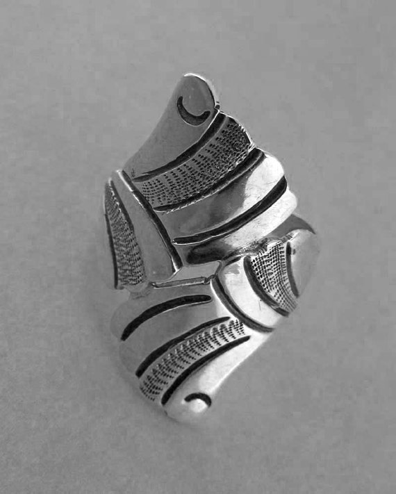 Silver Mexican Bypass Style Ring