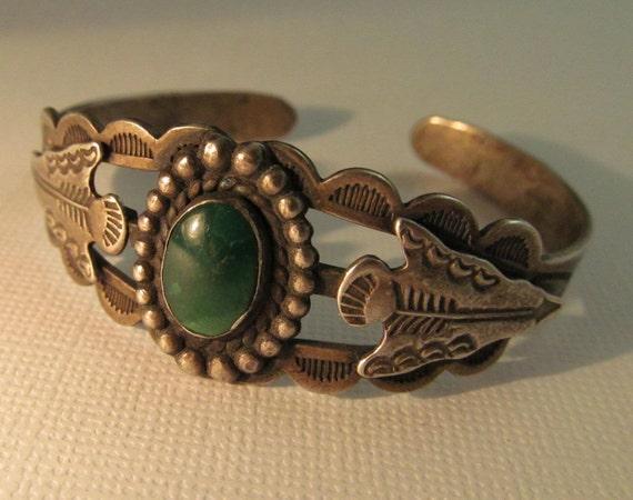 Coin Silver Bracelet 1930s PETITE