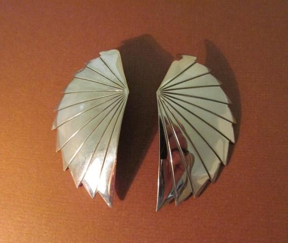 Southwest Silver Earrings Bold