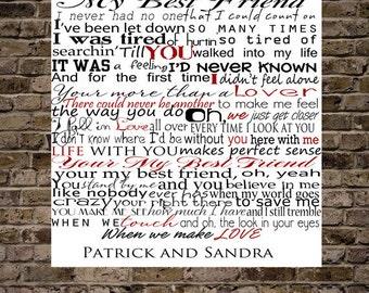 Custom Song Lyrics Typography
