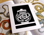 Curiosity Cabinet Series 2, No.2 - Limited Edition Screenprint (Intertwined Serpents)