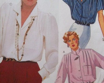 Sale - Vintage  - Back  and Front Pleated Blouse - McCalls 2138 -   Three Sizes - Bust 32 1/2, 34, 36 Ins. - Uncut Pattern