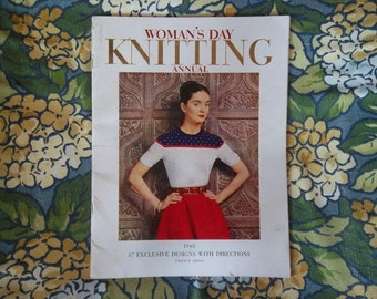 Sale ! Sale ! - Vintage - Woman's Day - Knitting Annual - 1948 - 87 Exclusive Designs
