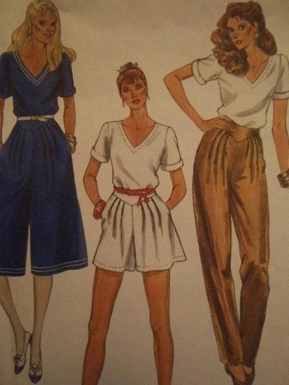 Sale - Vintage -Chic Top - Culottes - Pants - Shorts - Mc Calls 7911 - Bust 34 - 1982 Uncut  Pattern
