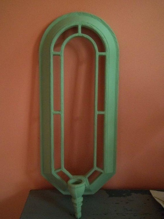 Vintage - Metal - Wall Hanging Decor - Candle Holder - Art Deco Style