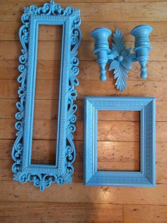 Vintage - Ornate Wall Decor - Frame - Mirror - Candle Holder - Bright and Beautiful