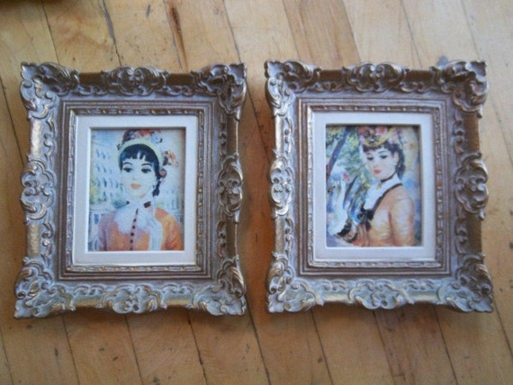 Reserved For Denise Sale Vintage French Ladies Prints