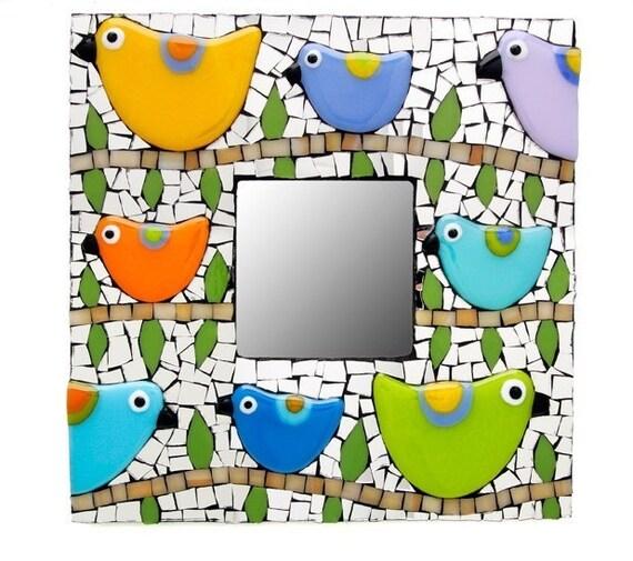 Mosaic Bird Mirror