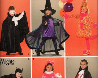3595 Simplicity Sewing Pattern Childrens Halloween Costumes for Kids Size A 3 4 5 6 7 8