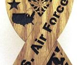 U. S. Air Force ribbon scroll saw cut--16p
