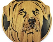 Rotweiler dog face scroll saw cutting--35df