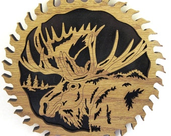 Moose in a sawblade scroll saw cut--8sb