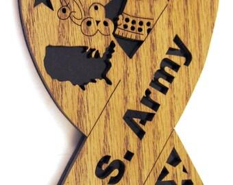 United States Army Ribbon scroll saw cut--7p