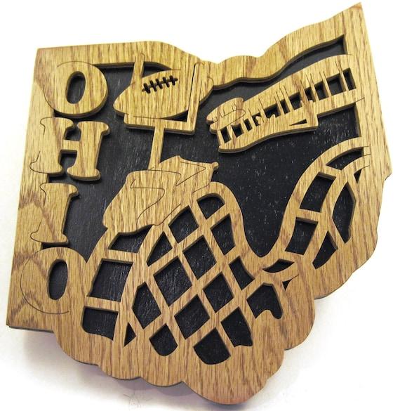 State of Ohio scroll saw cutting--2st