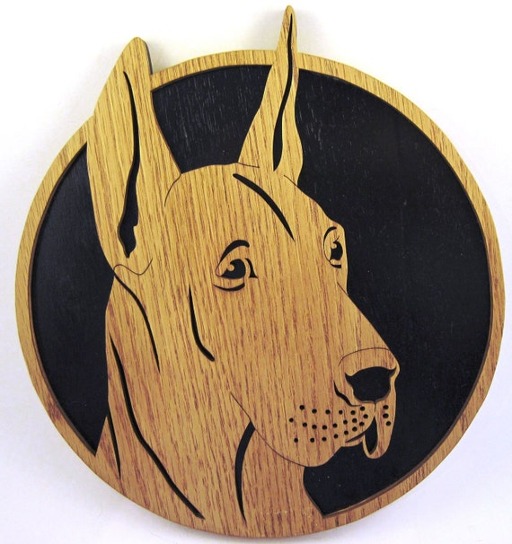 Great Dane scroll saw cut wall plaque--21df